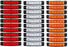 30 x Stück 6 LED 24v Seitenmarkierungsleuchten  LKW Rot Weiß Orange LKW Anhänger
