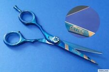"Hairdressing Scissors Hair metallic blue/silver stripes approx. 5,5"" Left-handed"
