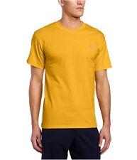 New Champion Short Sleeve Tee Shirt Solid Yellow Crew Neck Large