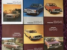SIX LATE 1970's VOLVO CAR SALES BROCHURES - 244 / 245 / 264