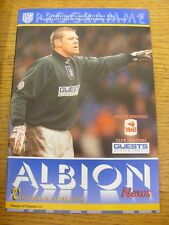 27/02/1996 West Bromwich Albion v Oldham Athletic  . Item appears to be in good