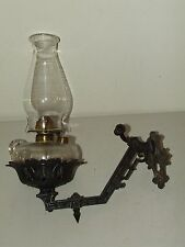 Antique Victorian Cast Iron Wall Sconce Bracket With Removable Oil Lamp Pu0026A  ...