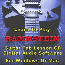 RAMMSTEIN Guitar Tab Lesson CD Software - 83 Songs