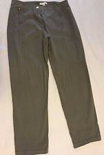 CHICO'S  Women Casual Pockets Front Zip Green Pants Size 1.5