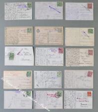 Storia postale estero. AUSTRIA, PRIMA GUERRA. BOLLI DI CENSURA. Insieme...