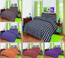 THERMAL 100% BRUSHED POLY-COTTON FLANNELETTE QUILT DUVET COVER BED SET