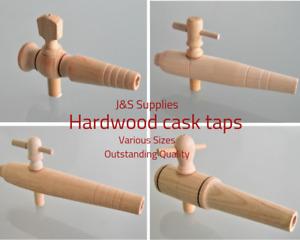 Wooden Cask Taps Water Butt Hardwood Barrel Tap Wood Cask Ale 2,3,6,7,8,10 Inch