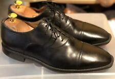 Santoni Black Captoe Oxford Shoes Made In Italy 8 EE $525