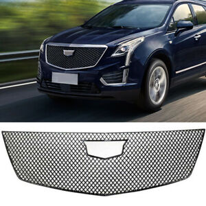 For 2017 2018 2019 2020 Cadillac XT5 Grill Cover Grille Trim Guard Gloss Black