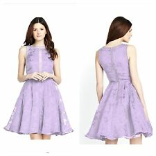 Lilac Organza Burnout Size 16 18 Prom DRESS Simply Fab Occasion Party Be £85