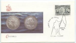 1992 FDC, $5.00 COLUMBIAN ISSUE