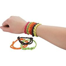 Lot of 72 Nylon Friendship Rope Bracelets Kids Party Favors