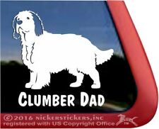 Clumber Dad | Clumber Spaniel Vinyl Dog Window Decal Sticker