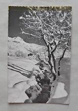 c1965/ 60s B/W Postcard. Alpine Snow Scene. Verbier/ Pathiers,  Switzerland