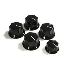 RICKENBACKER VINTAGE KNOBS - SET OF 5 BLACK KNOBS - P/N 3571 GENUINE RIC PARTS