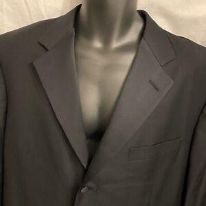 44 R Mens ERMENEGILDO ZEGNA Black Tuxedo Formal Dinner Jacket Coat