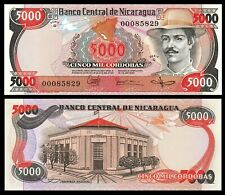 Nicaragua 5000 Cordobas Banknote, 1985, P-146, UNC, America Paper Money