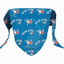 TORONTO BLUE JAYS BANDANA SCARF MLB Over Collar Slide On Pet Dog Cat Sz: L/XL