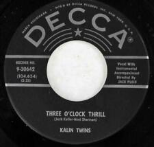 Kalin Twins, When - Three O'Clock Thrill, Decca Records 9-30642