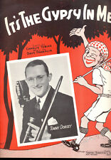 """TOMMY DORSEY Sheet Music """"It's The Gypsy In Me"""" 1936"""