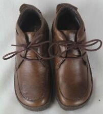 Born Ramapo Chestnut Brown Leather Platform Shoes 6.5 M/W NIB