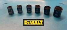Genuine DEWALT 3/8 Drive Sockets / Set, Black chrome, 10,12,13,14,15,17 mm