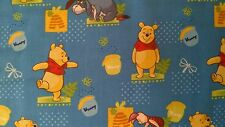 1 Half Metre length Winnie the Pooh, Pooh's Pot of Hunny Print Fabric - 40093