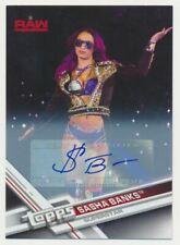 2017 Topps WWE Then Now Forever Autographs #134 Sasha Banks Auto