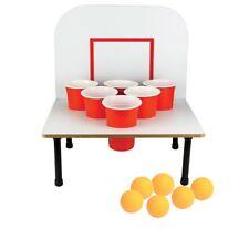 Bank Shot Beer Pong Game - Basketball Ping Pong Adult Drinking Game