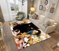 Floor Mat Carpet 3D Flaming Tiger Print Custom Animal Rug Doormat Door