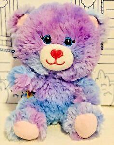 Build a Bear Smallfrys Buddies Purple Blue Heart Stuffed Animal Plush Doll Toy
