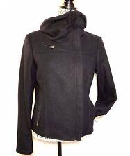 Versace Jeans Couture AUTHENTIC Dark Blue Wool Zip Up Jacket Coat Size S