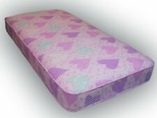 Sprung Budget Plus Pink Hearts Single 90x190cm Mattress, Great for Bunks, Cabin