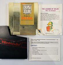 THE LEGEND OF ZELDA Nintendo NES 1987 Game Case Map & Manual Not Tested 5 Screw!