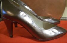 "New Bally Bronze leather shoes sz 5  3"" heel."