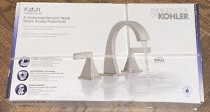 Kohler K-R78039-4D-BN Katun Widespread Bathroom Faucet Vibrant Brushed Nickel