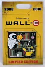 Disney 2018 10th Anniversary Movie Wall E & Eve Lightbulb 3-D Pin LE 2000 NEW