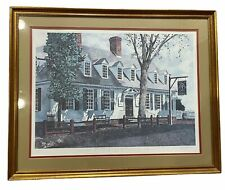 """Raleigh Tavern Spring Williamsburg T Coffman LE Signed Framed Print 21"""" x 27"""""""