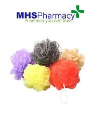 5 X Esponja De Baño Ducha Cuerpo Puff malla Ball Scrunchie lavado de color al azar
