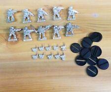 Warhammer 40K Imperial Guard storm trooper kasrkin squad oop 1 flamer, 1 grenade