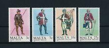 Malta  696-9 MNH, Military Uniforms, 1987