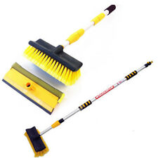 Water Fed Long Reach Cleaner Extendable Telescopic Pole Wash Brush & Squeegee 3m