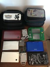 Nintendo DS, DSi, 2DS, New 3DS XL Pokemon Collection with AC Adapters and Cases