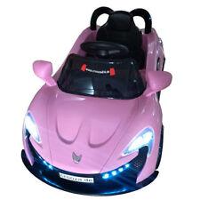 Crooza Roadster mit 2x Motoren Mp3 LED Elektro Kinderauto Rosa