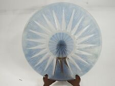 R.Lalique France,Epis 1 Blue moulted and Frosted Glass Dish 1921