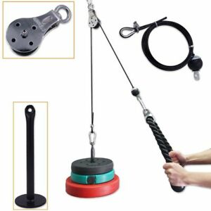 Fitness Pulley Cable System Loading Pin Lifting Triceps Rope Machine Workout