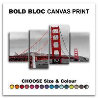 San Francisco Golden Gate Bridge CITY  Canvas Art Print Box Framed Picture BBD