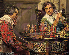 painting/Poster/Art Print/1570 Repro/'Playing Chess'/16x20in/Old Masters