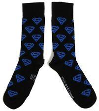 Da Uomo Superman Logo più calze nere UK 6-11/EUR 39-45/US 7-12