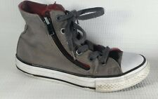 CONVERSE Chuck Taylor All Star Boys 13 Y Gray Red High Top Zipper Sneakers  Shoes 5b7a0efcc